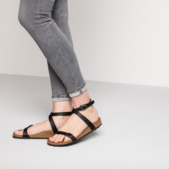 3bb94e8b7502 Birkenstock Shoes - Birkenstock Daloa Ankle Strap Black Sandal
